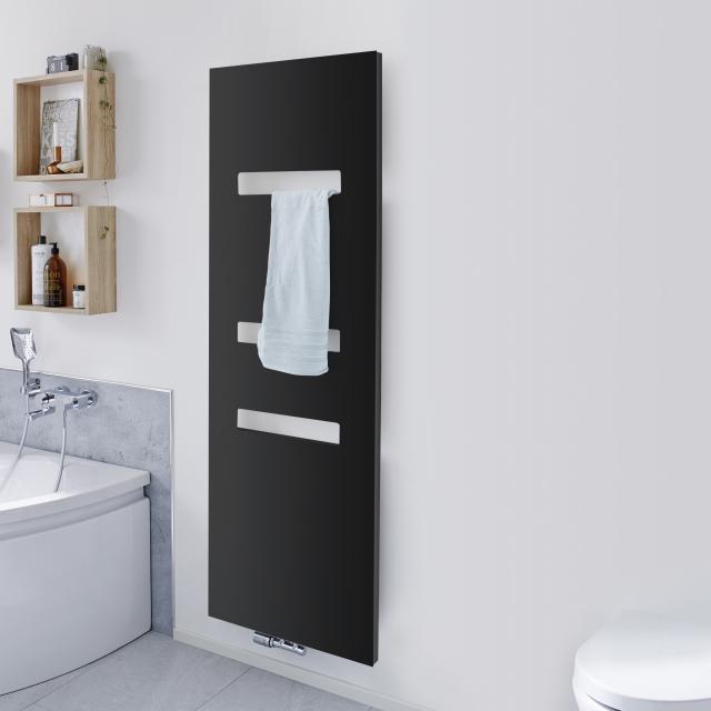HSK Atelier Highline bathroom radiator metal front, graphite black