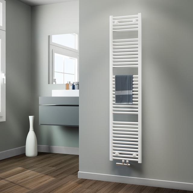 HSK Line bathroom radiator with centre connection white