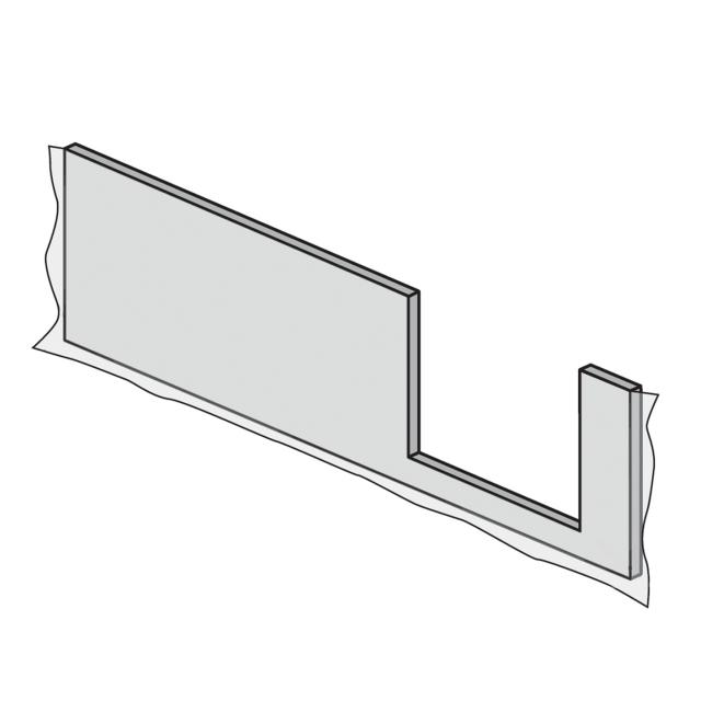 HSK Dobla front panel, entry right L: 170 cm