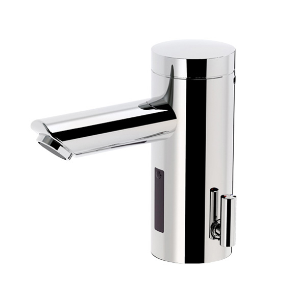 Conti+ lino L30 Click basin fitting with IR sensor, pressureless, with temperature control battery-powered, without waste set