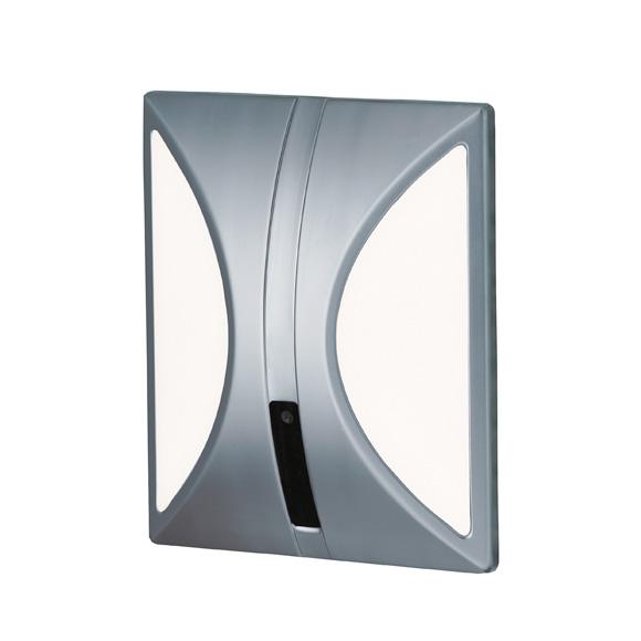Conti+ lino U10 concealed urinal flush valve with IR sensor, battery powered matt chrome/white
