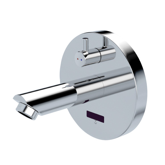 Conti+ lino WV10 Click basin fitting with IR sensor, with temperature control, battery-powered projection: 220 mm