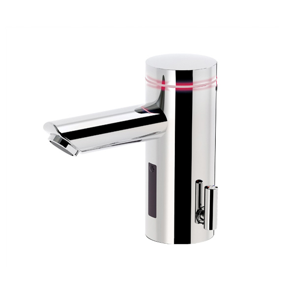 Conti+ lumino L10i Click-plus basin fitting with IR sensor, with temperature control, mains-operated. with waste set