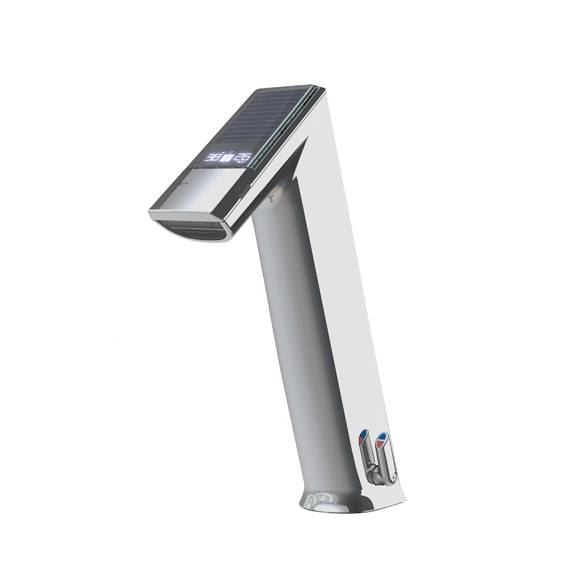 Conti+ ultra GH10 EXPERT basin fitting with IR sensor, with temperature control, solar-powered without waste set