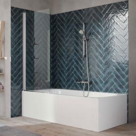 HÜPPE 501 Design pure bath screen 1 piece clear glass / matt silver