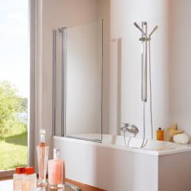 HÜPPE 501  Design pure bath screen 2 piece clear glass / matt silver