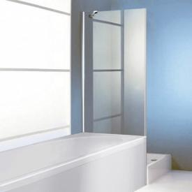 HÜPPE 501 Design pure rectangular shortened side panel for swing door TSG clear / matt silver