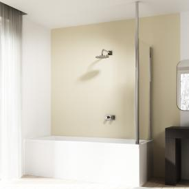 HÜPPE 501 Design pure bath screen side panel TSG clear without ANTI-PLAQUE / shiny chrome