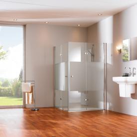 Hüppe 501 Design pure folding swing door Clear glass / matt silver