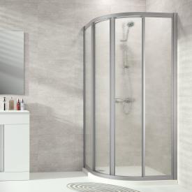 Hüppe Alpha 2 framed quadrant sliding door acrylic glass pacific S clear / matt silver