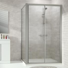 Hüppe Alpha 2 framed sliding door 1 part with fixed segment acrylic glass pacific S clear / matt silver