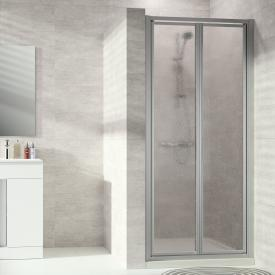Hüppe Alpha 2 framed two-way door acrylic glass pacific S clear / matt silver
