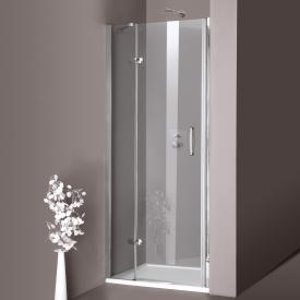 HÜPPE Aura elegance swing door with fixed segment in recess TSG clear with ANTI-PLAQUE / chrome