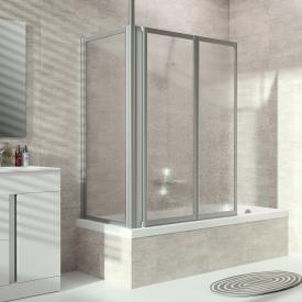 HÜPPE Combinett 2 bath screen side panel acrylic glass Pacific S clear without ANTI-PLAQUE / matt silver