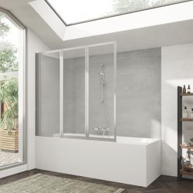 HÜPPE Combinett 2 Pare-baignoire en 3 parties Verre synthétique transparent pacific S / argenté mat