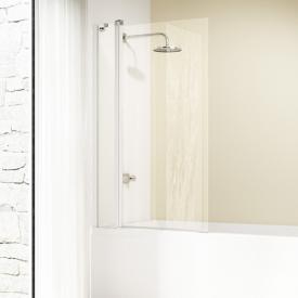 HÜPPE Design elegance bath screen 1 piece with fixed segment TSG clear / matt silver