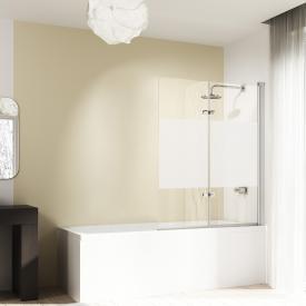 HÜPPE Design elegance bath screen, folding swing door TSG privatima with ANTI-PLAQUE / matt silver