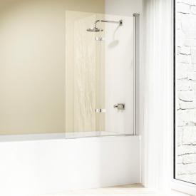 HÜPPE Design elegance bath screen, folding swing door TSG clear with ANTI-PLAQUE / matt silver