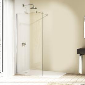 HÜPPE Design elegance Cloison latérale rectangulaire simple Verre trempé transparent avec ANTI-PLAQUE / chromé