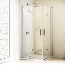 HÜPPE Design elegance folding swing door TSG clear with ANTI-PLAQUE / matt silver