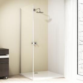 HÜPPE Design elegance side panel for sliding door 1 piece TSG clear with ANTI-PLAQUE / chrome