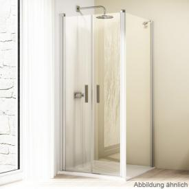 HÜPPE Design elegance side panel for two-way door TSG clear / matt silver