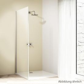 Hüppe Design elegance side panel for sliding door 2 piece with fixed segment/adjacent part TSG clear / matt silver