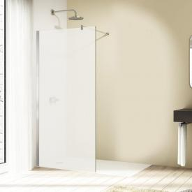 HÜPPE Design elegance standalone side panel TSG sand plus with ANTI-PLAQUE / silver high gloss
