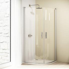 Hüppe Design elegance quadrant swing door 2 wing TSG clear with ANTI-PLAQUE / chrome