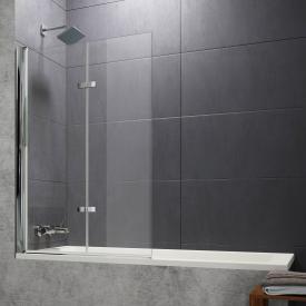 HÜPPE Design pure bath screen folding swing door TSG clear with ANTI-PLAQUE / chrome