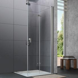 HÜPPE Design pure folding swing door TSG clear with ANTI-PLAQUE / matt silver