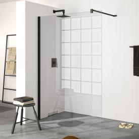 HÜPPE Design pure Paroi latérale simple Verre trempé transparent avec ANTI-PLAQUE/black edition