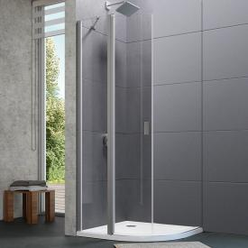 HÜPPE Design pure quadrant swing door 2 wings with fixed segments TSG clear / matt silver
