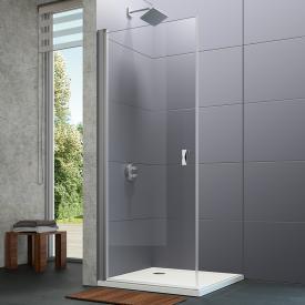 HÜPPE Design pure swing door TSG clear with ANTI-PLAQUE / matt silver