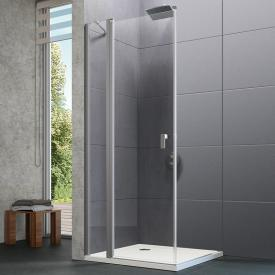 HÜPPE Design pure swing door with fixed segment TSG clear with ANTI-PLAQUE / matt silver