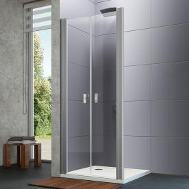 HÜPPE Design pure two-way door for side panel TSG clear / matt silver