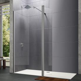 HÜPPE Design pure walk-in side panel with movable segment TSG clear / matt silver