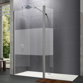 HÜPPE Design pure walk-in side panel with movable segment TSG privatima with ANTI-PLAQUE / matt silver