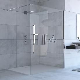 HÜPPE Duplo pure Walk In TSG clear with ANTI-PLAQUE / chrome
