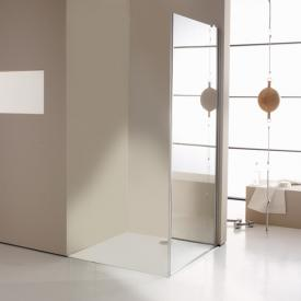 HÜPPE Enjoy elegance partially framed side panel for swing door with fixed segment TSG clear with ANTI-PLAQUE / chrome