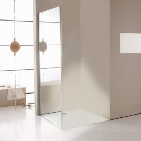 Hüppe Enjoy elegance partially framed side panel for two-way door TSG clear / chrome