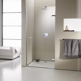 HÜPPE Enjoy elegance frameless swing door in rece framelessss TSG clear with ANTI-PLAQUE / chrome