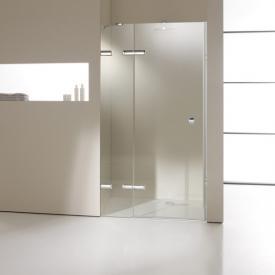 HÜPPE Enjoy elegance frameless swing door with fixed segment in rece framelessss TSG clear / chrome