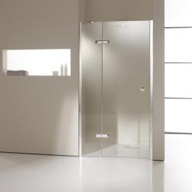 HÜPPE Enjoy elegance partially framed swing door with fixed segment in rece partially framedss TSG clear / chrome
