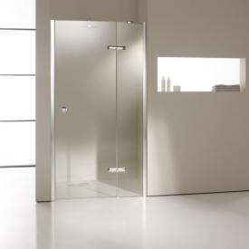 Hüppe Enjoy elegance partially framed swing door with fixed segment in rece partially framedss TSG clear with ANTI-PLAQUE / chrome