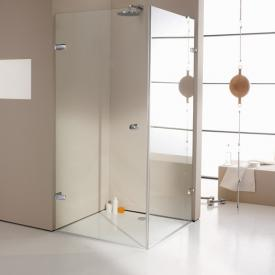 HÜPPE Enjoy elegance frameless swing door with side panel TSG clear / chrome