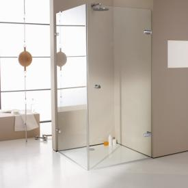 HÜPPE Enjoy elegance frameless swing door with side panel TSG clear with ANTI-PLAQUE / chrome
