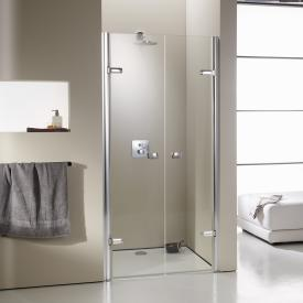 Hüppe Enjoy elegance partially framed two-way door in rece partially framedss TSG clear with ANTI-PLAQUE / chrome