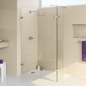 HÜPPE Enjoy elegance frameless Walk In side panel with moving segment TSG clear / chrome