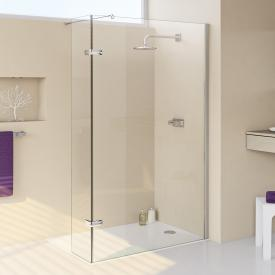 HÜPPE Enjoy elegance partially framed Walk In side panel with moving segment TSG clear with ANTI-PLAQUE / chrome